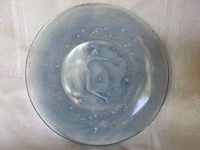 Original Vintage Lalique Mermaid Mermaids Siren Sirens Blue Glass Plate