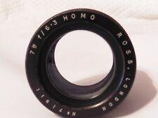 "RARE Vintage Ross London 178mm, 7 IN F / 6.3 Homo / Homocentric Lens 7"""