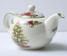 Royal Albert Old Country Roses Holiday Classic Collection Teapot Christmas Tree