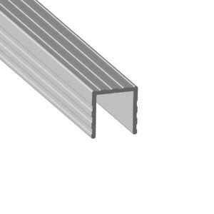 Trim U- Shape to fit 13mm board- 2 Meter Length U Channel Extrusion Aluminium