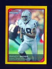 RANDY MOSS 2006 BOWMAN CHROME GOLD REFRACTOR PARALLEL /50 *RARE* VIKINGS RAIDERS