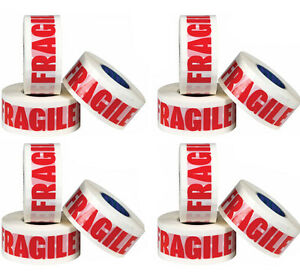 RoHS Certified 6 ROLLS FRAGILE PRINTED PACKAGING PARCEL TAPE 48mm x 66M 50mic