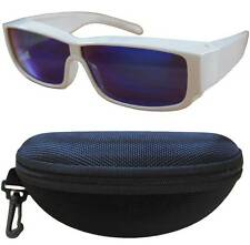 Andevan™ cover over polarized 100% UV blue lens w/ plastic white frm fit unisex