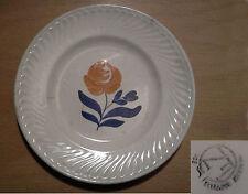 ancienne assiette dessert FN Faïencerie Nouvelle Givors rose peinte début XXème