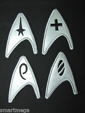 Star Trek Chest Insignias  Patch set - 4 Metallic Iron On