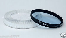 GENUINE NIKON 52mm B2 FILTER with CP-3 CASE!! EXCELLENT PLUS CONDITION!!