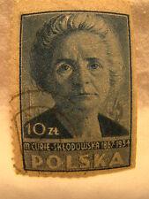 Poland Stamp 1947 Scott 410 A132 Blue 10 Zt