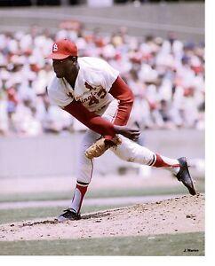 8x10 photo baseball Bob Gibson St. Louis Cardinals  Game Action! circa 1968