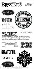 FISKARS SIMPLE STICK TERESA COLLINS cling rubber stamp BE THANKFUL