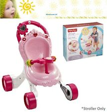 Fisher-Price Baby Girl Pink Walker Stroll-Along Musical Stroller Christmas Gift