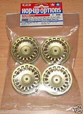 Tamiya 84155 Medium-Narrow Rally DISH WHEELS (oro/± 0) (TA05/TA06/TA07), Nuovo con imballo