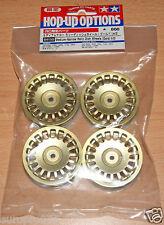Tamiya 84155 Medium-Narrow Rally Dish Wheels (Gold/±0) (TA06/TB03/TB04), NIP
