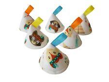 Pee Pee TeePee x6 / Wee Teepees Cones / Boy Baby Shower Gift / Fox Bear Woodland
