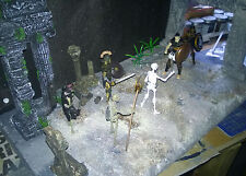 """Custom ancient ruins diorama for 3.75"""", 1:18 scale figures"""