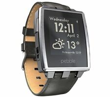 Pebble Leather Smart Watches