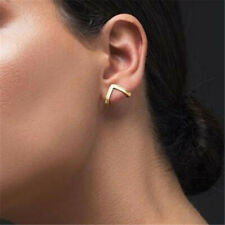 1Pair Women Statement Gold Triangle Geometric Shape Metal Ear Stud Earrings