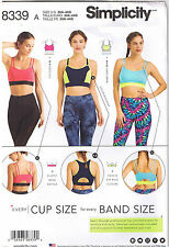 Knit Sports Bra Top Double Strap Racerback Athletic Workout Wear Sewing Pattern