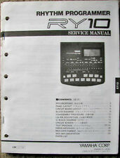 Yamaha RY10 Digital Drum Machine Original Service Manual, Schematics, Parts List