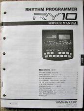 Yamaha RY10 Digital Drum Machine Original Service Manual, Schematics, Parts List