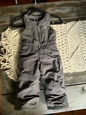North Face Snowsuit Pants Bibs Toddler 2T Gray