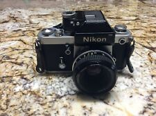 Nikon F2 SLR 35mm Camera & Nikon Nikkor 50mm 1:2 Lens Made in Japan Working well