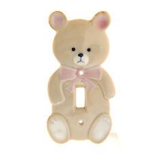Lillian Vernon Japan Porcelain Teddy Bear Light Switch Cover 3.25x6 Inch