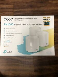 TP-Link Deco X20(3-pack) AX1800 Whole Home Mesh Wi-Fi System White
