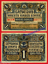 LETONIA LATVIA  1 rublo rubli 1919  Pick 1  MBC  /  VF
