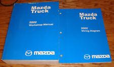 Original 2002 Mazda Truck Shop Service Manual + Wiring Diagram Set 02