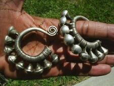 Silver Earrings a pair rare Tibetan women jewelry Miao
