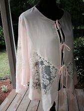 Victoria's Secret Women's Small Medium Peach Lace Chemise /Robe