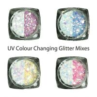 UV Activation Colour Changing Glitter Mixes Quality Festival Eyeshadow Makeup