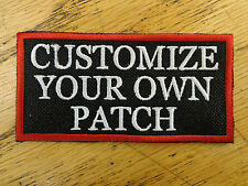 CUSTOM EMBROIDERED PERSONALIZED PATCH 2 X 4 INCH NAME SAYING MADE IN USA