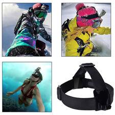 Adjustable Head Strap For Go Pro Camera 2 3 3+ 4 Elastic Mount Ski Hat BF