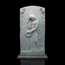 Bas-Relief Madonna White Marble Carrara Italian Marble Low-Relief H.100cm