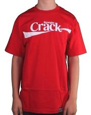 Dissizit! Mens Black or Red Straight Crack Slick Compton LA Graphic T-Shirt NWT