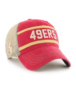 SAN FRANCISCO VINTAGE SCARLET JUNCTURE 47 CLEAN UP TRUCKER MESH HAT