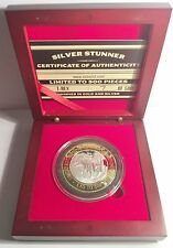 """2016 T-REX """"SILVER STUNNER"""" 43mm COIN & Display Box with C.O.A. LTD 500"""