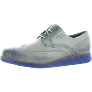 Rockport Mens Total Motion Sport Dress Gray Wingtip Shoes 9 Medium (D) BHFO 1082