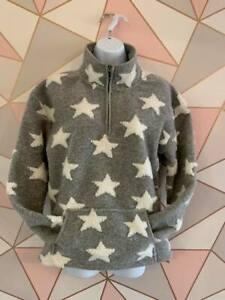 NEW Next Ladies Grey Star Loungewear Snuggle Jumper ~ Size S/XS  6/8-10 ~ BNWT