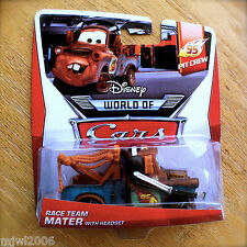 Disney World of Cars MATER WITH HEADSET 2014 PIT CREW diecast 2/5 TOW Pixar