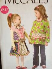 McCalls Sewing Pattern 6597 Girls Childs Lined Jacket Vest Skirt Size 6-8 Uncut