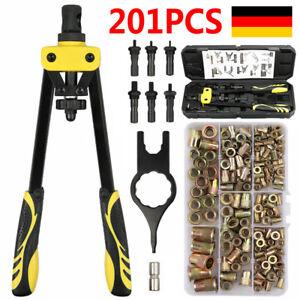 200X Profi Nietmutternzange Set Nietmaschine Gewinde Nuss Nieten M3-M10 Werkzeug