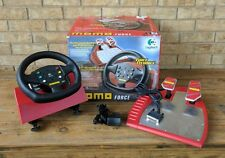 Logitech MOMO Force Steering Wheel with Pedal System - Special RED Edition RARE