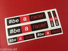 6 Adesivi APRILIA Racing be a racer vari formati sponsor moto