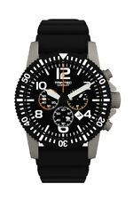 NEW Trintec Aviation Co-Pilot Chronograph Stainless Watch Quartz w/ Rubber Band