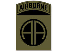 3x4 inch SUBDUED COLORS 82nd Airborne AA Logo Sticker  - insignia ssi army crest