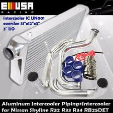 For Skyline R32 R33 R34 GTR Turbo Charged RB25 Bolt on Intercooler+Piping COMBO