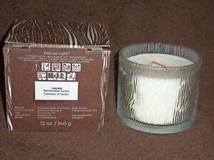 Nature's Light -- Marshmallow Vanilla wooden wick Jar -- NIB