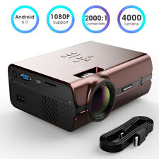 4000 Lumens WiFi Wireless LCD LED Projector Android 6.0 8G Bluetooth Home Cinema